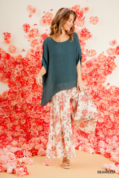 umgee  DOLMAN SLV SHEER TOP - Alternate List Image