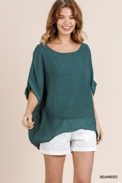 umgee  DOLMAN SLV SHEER TOP - Product List Image