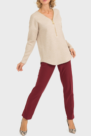 Joseph Ribkoff Zipper Detail Sweater - Product Mini Image