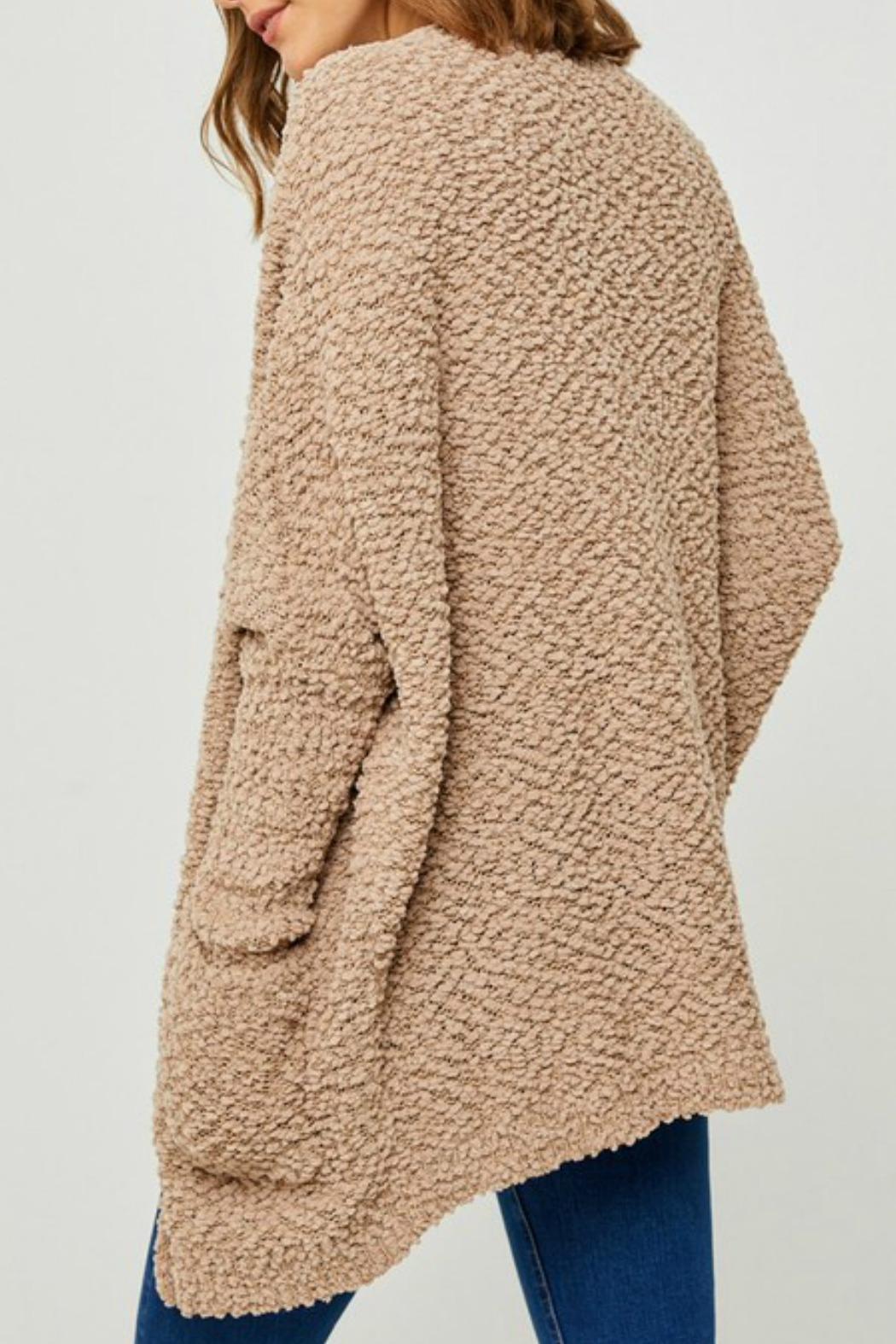 Hayden Los Angeles Dolman Teddy Cardigan - Side Cropped Image