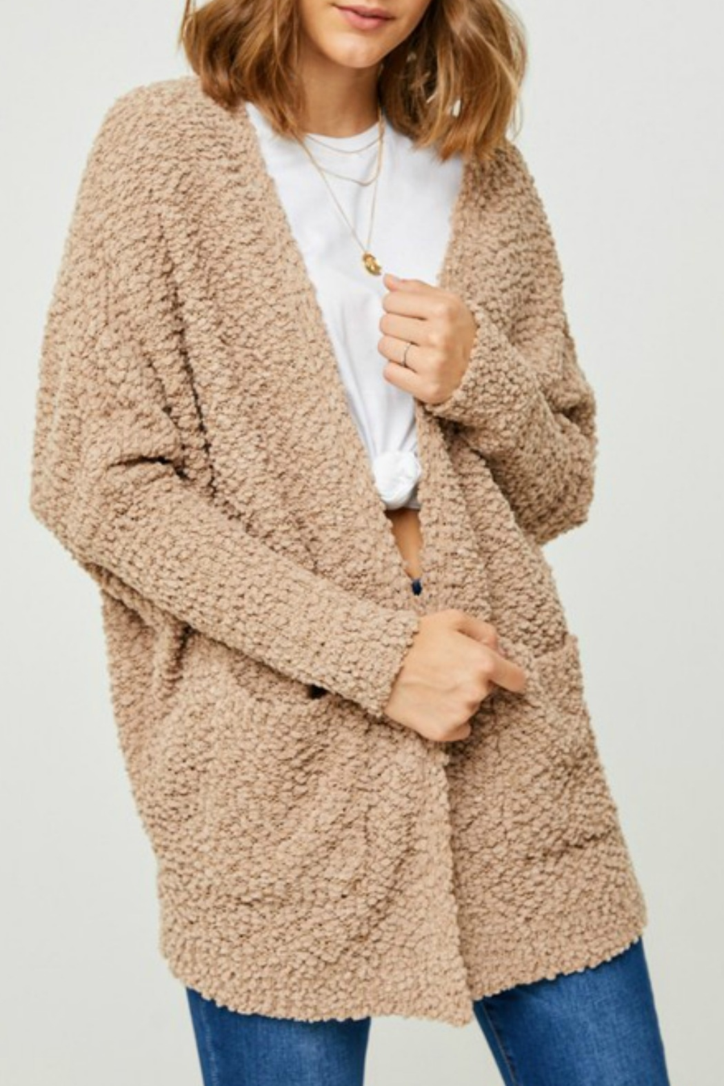 Hayden Los Angeles Dolman Teddy Cardigan - Front Full Image