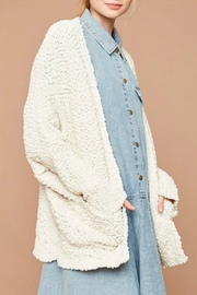 Hayden Los Angeles Dolman Teddy Cardigan - Front cropped