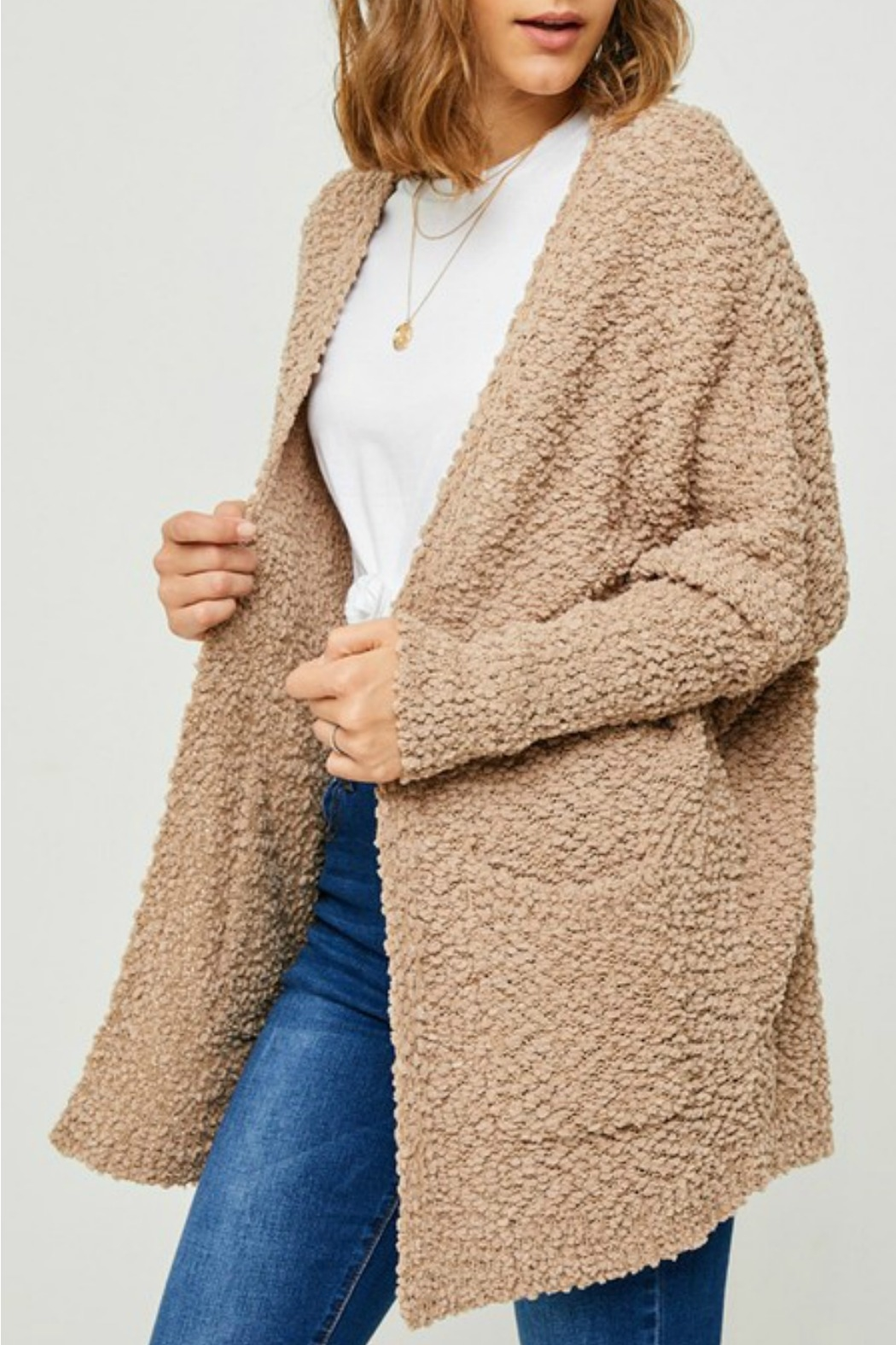 Hayden Los Angeles Dolman Teddy Cardigan - Main Image