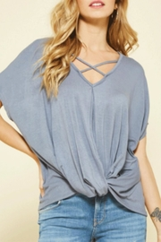 Promesa USA Dolman Twist Top - Front cropped