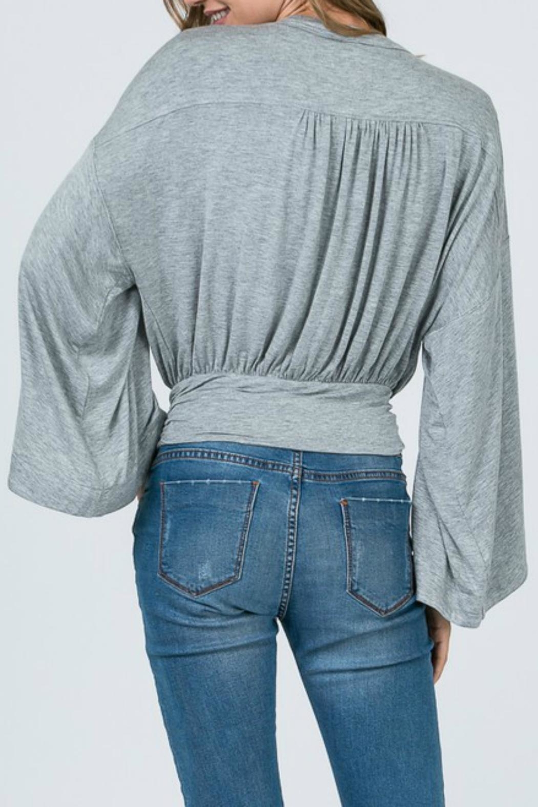Pretty Little Things Dolman Wrap Top - Front Full Image