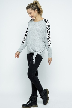 Twenty Second Dolmen Animal Print Knit Top - Alternate List Image