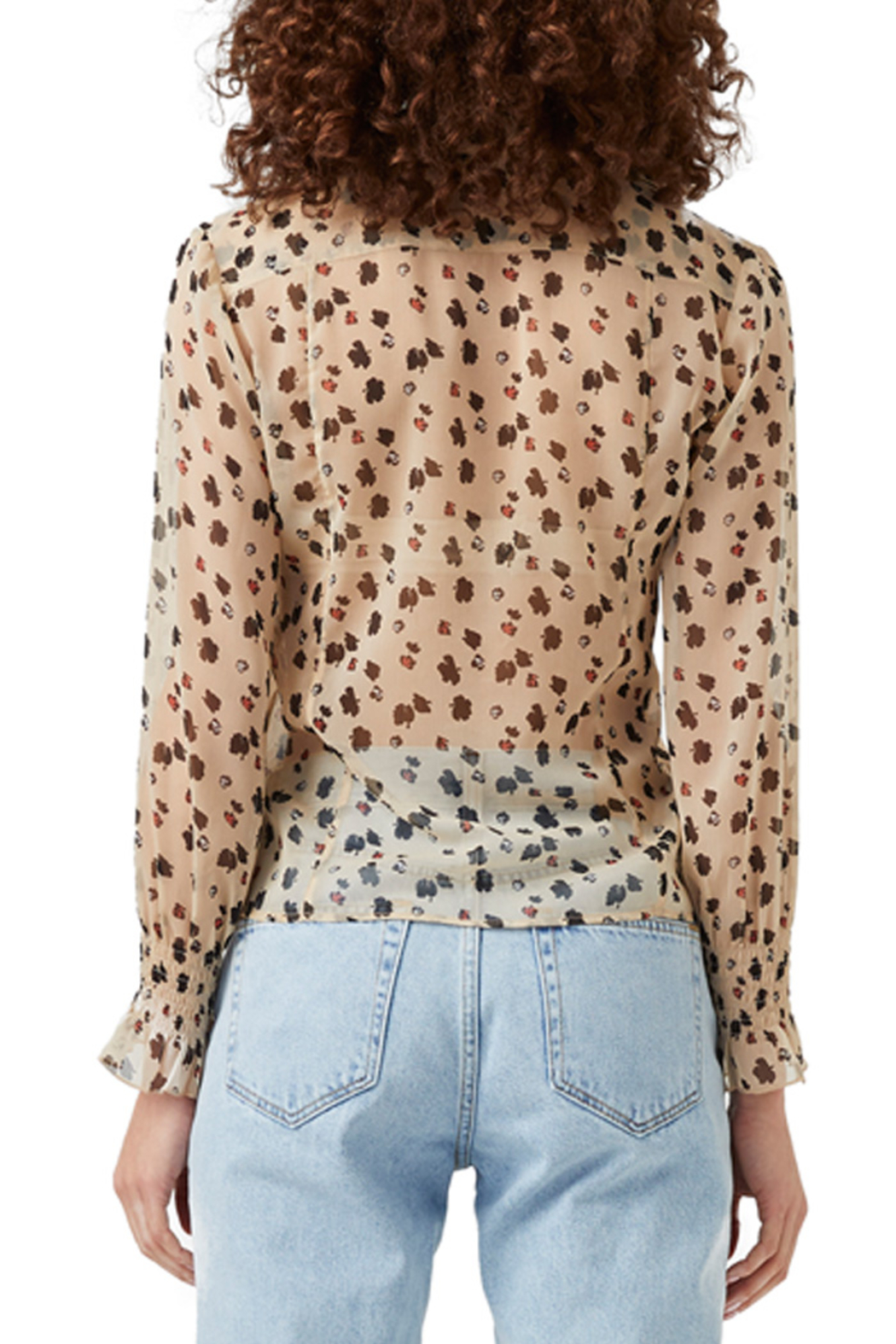 French Connection Dolores Crinkle Sheer Shirt - Side Cropped Image