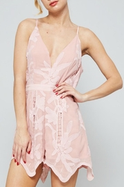 Dolores Promesas Hell Pink Lace Romper - Product Mini Image