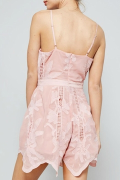 Dolores Promesas Hell Pink Lace Romper - Alternate List Image
