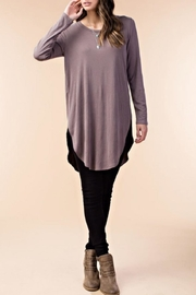 KORI AMERICA Dolphin-Hem Tunic Top - Product Mini Image