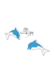 Silver Jewels Dolphin Silver Stud Earrings - Product Mini Image