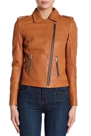 Doma Leather Jacket - Front cropped
