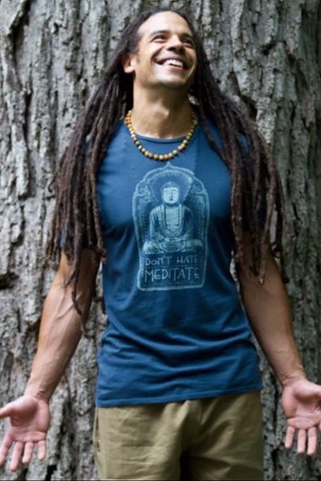 Soul Flower Don't Hate Meditate Tee - Front Full Image