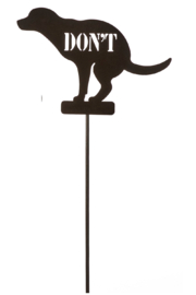 Giftcraft Inc.  Don't Poop Dog Stake - Product Mini Image