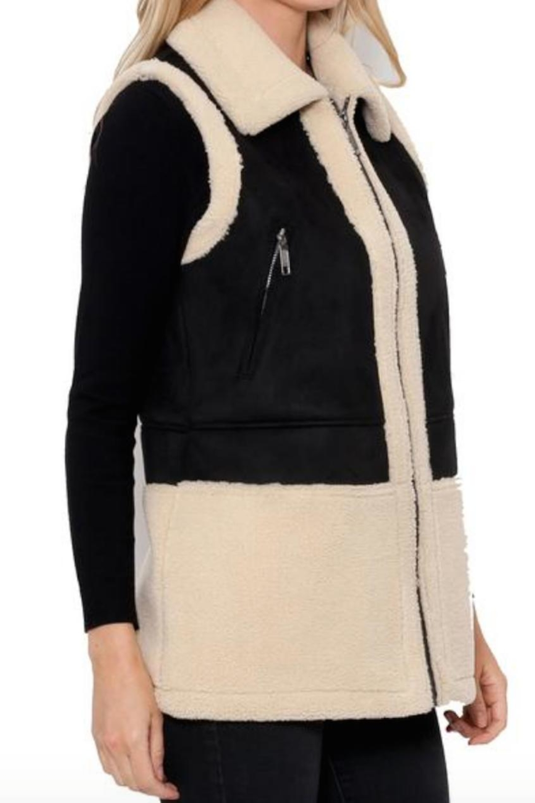 b598d1e0594 love token Donatella Shearling Vest from New Jersey by The House ...