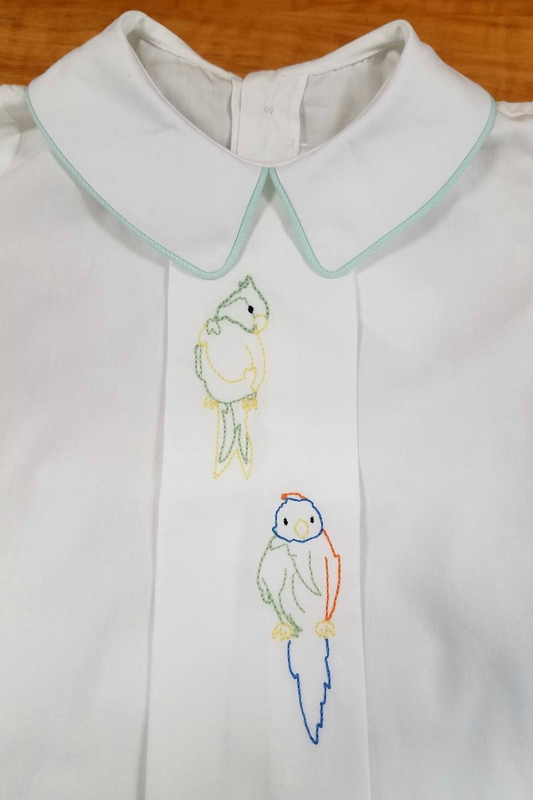 Dondolo Albert Parrot-Embroidery Short-Set - Front Full Image