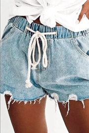Mazik Donelle Drawstring Denim Shorts - Product Mini Image