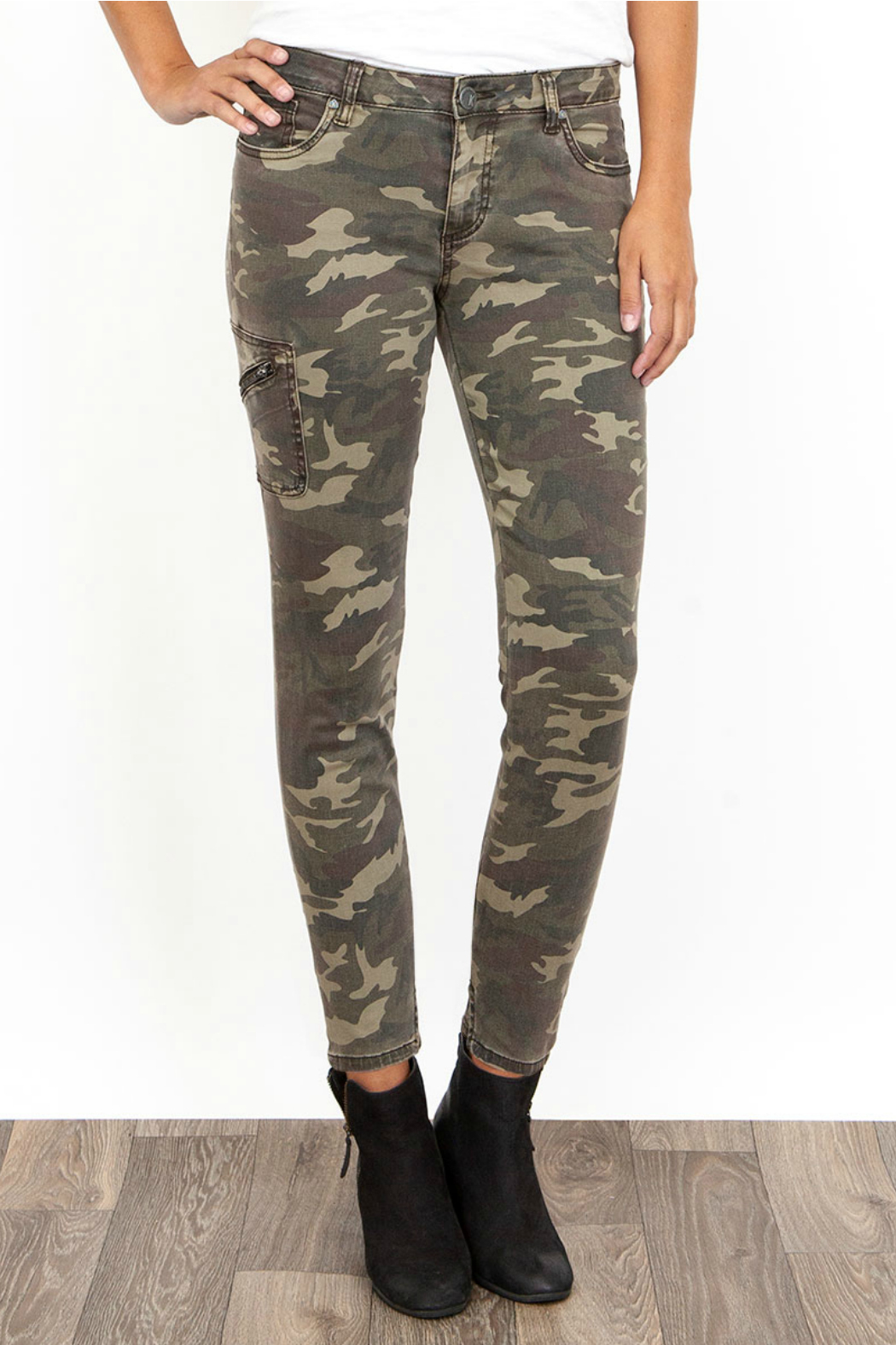 7b69067e51f49 KUT Donna Camo Side Pocket Ankle Pant from New Jersey by Charlotte's ...