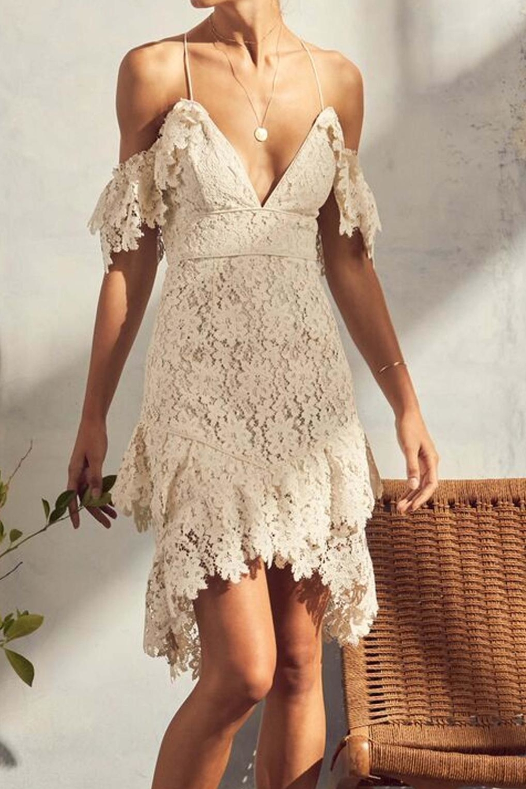 Saylor Donna Lace Dress - Front Cropped Image