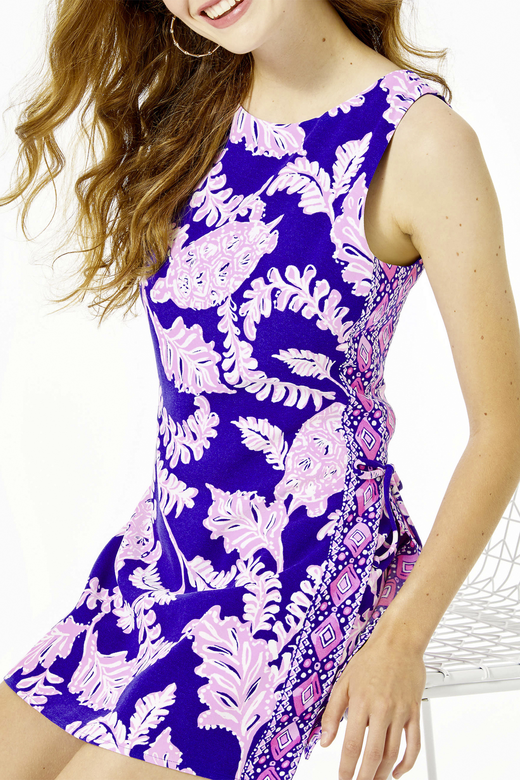 Lilly Pulitzer  Donna Shift Romper - Back Cropped Image