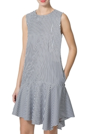 Donna Morgan Edie Striped-Poplin Dress - Product Mini Image