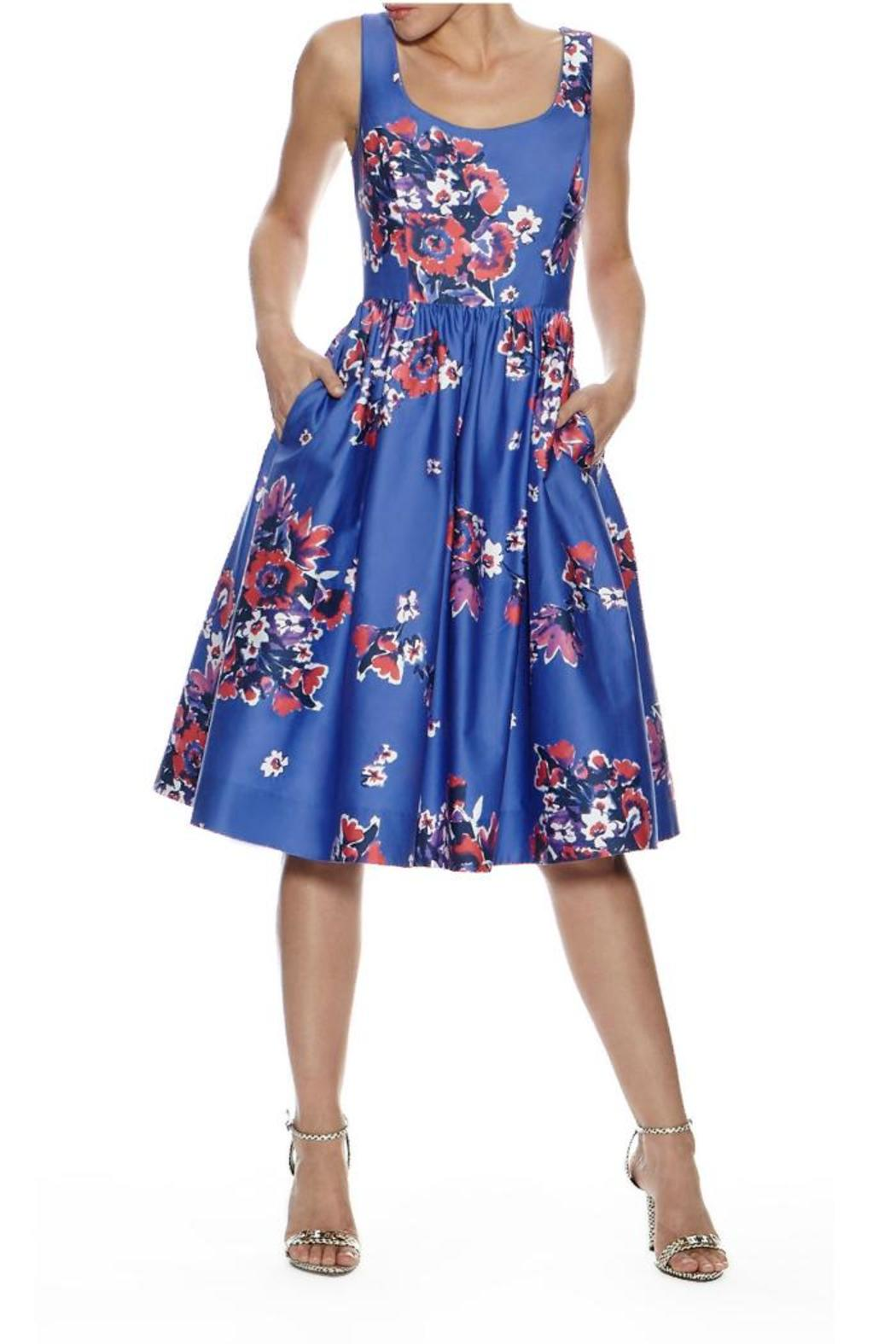 Donna Morgan Fl Midi Dress Front Cropped Image