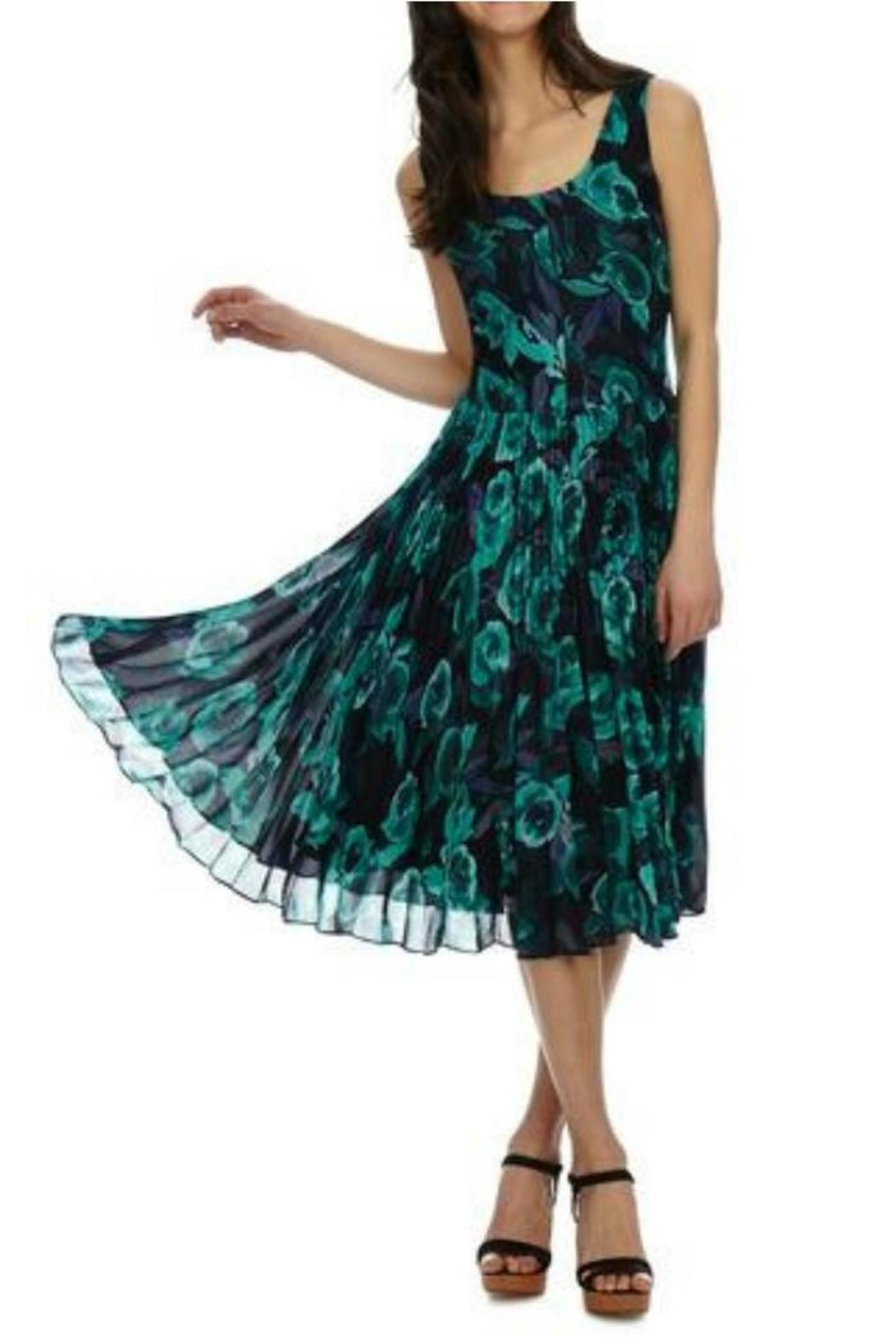 Donna Morgan Kaylin Chiffon Dress - Front Full Image