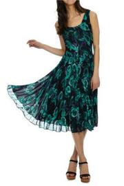 Donna Morgan Kaylin Chiffon Dress - Front full body