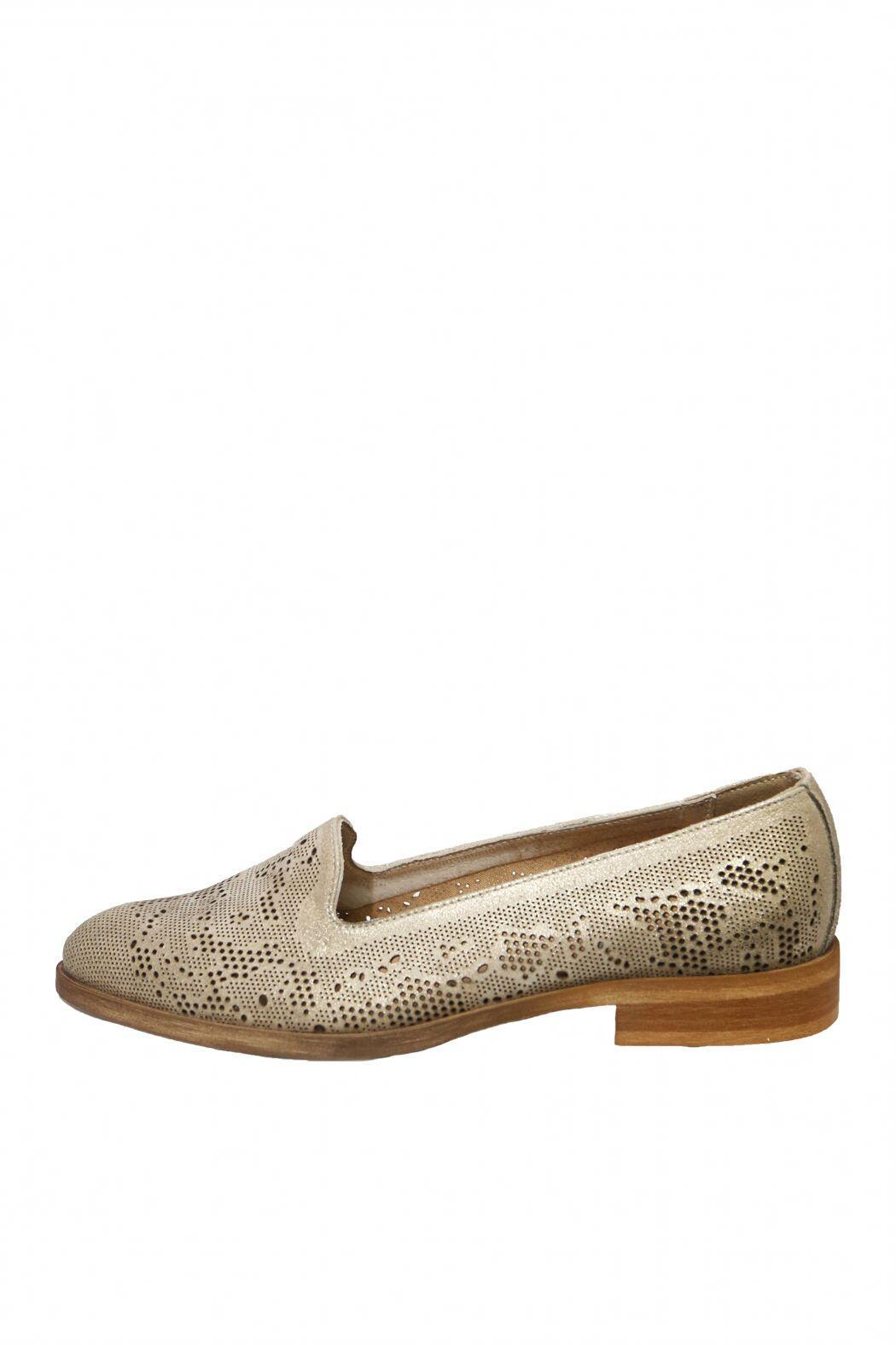Donna Piu Brown Dressy Loafer - Front Cropped Image