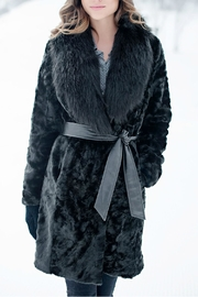 Donna Salyers Broadtail & Fox Coat - Front cropped