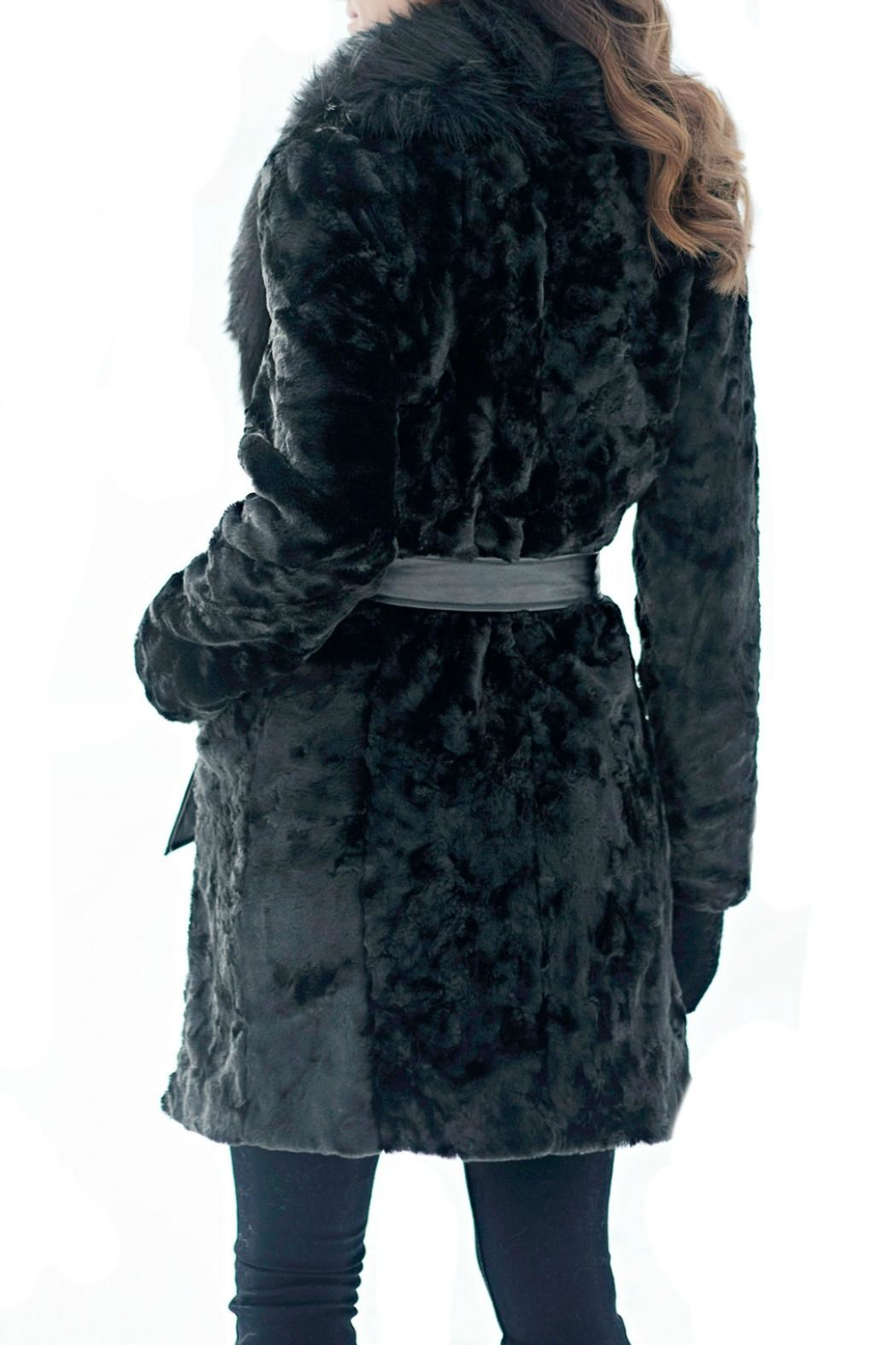 Donna Salyers Broadtail & Fox Coat - Front Full Image