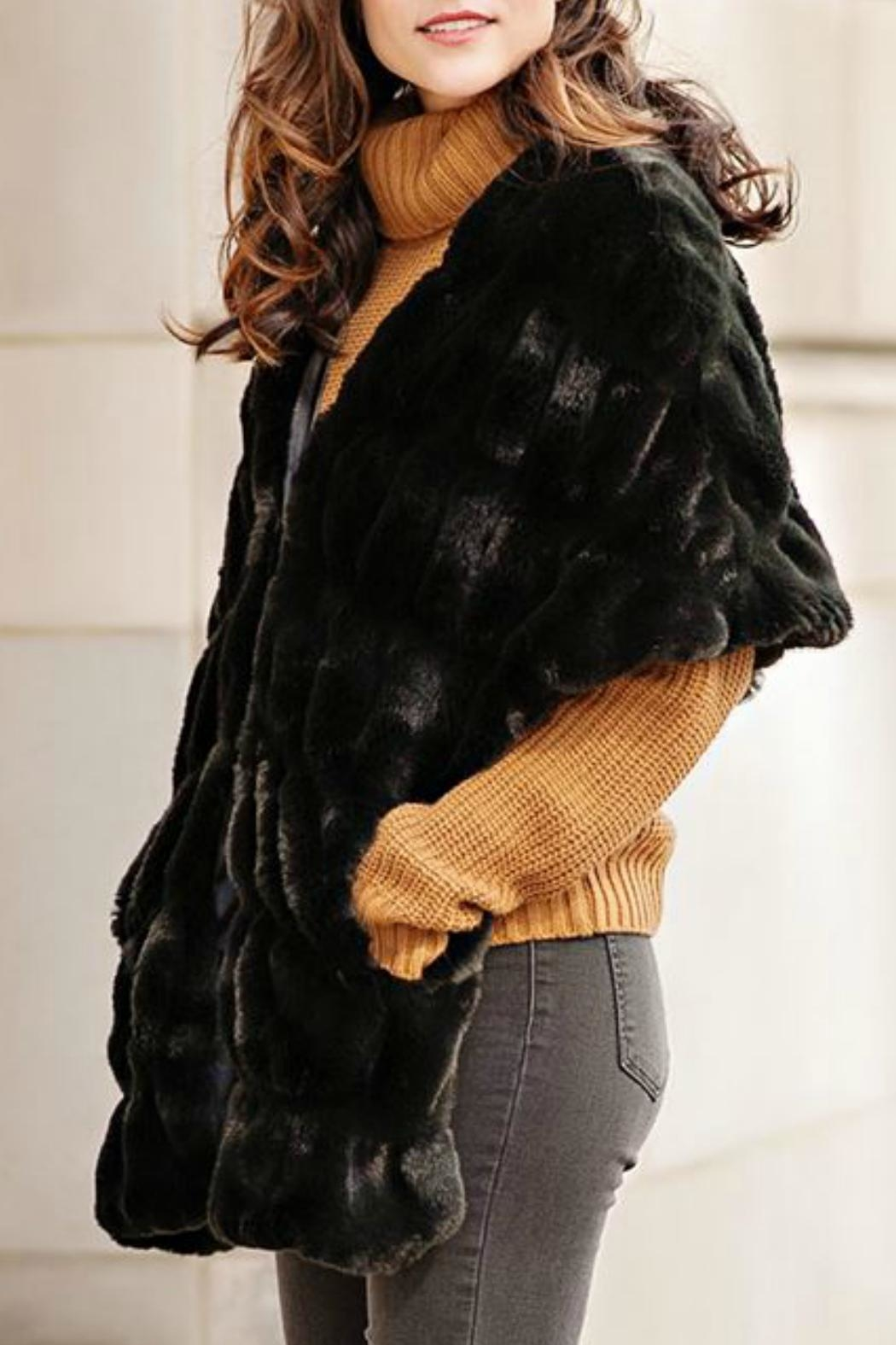 Donna Salyers Couture Mink Shrug - Side Cropped Image