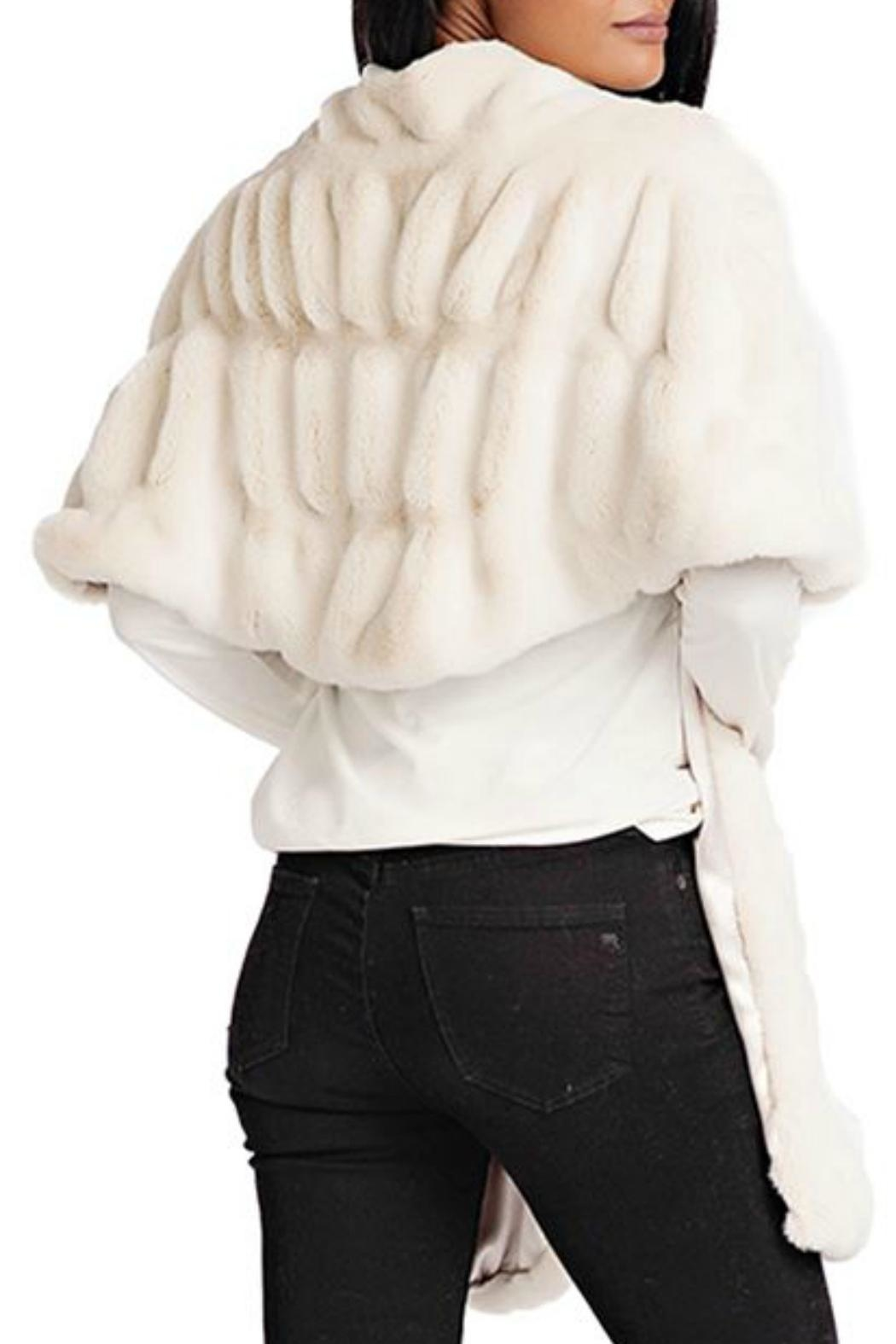 Donna Salyers Couture Mink Shrug - Front Full Image
