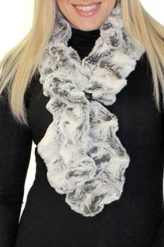 Donna Salyers Frosted-Grey Fur Scarf - Alternate List Image