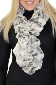 Donna Salyers Frosted-Grey Fur Scarf - Product Mini Image