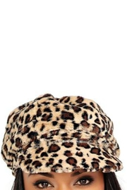 Donna Salyers Leopard Cabbie Hat - Product Mini Image