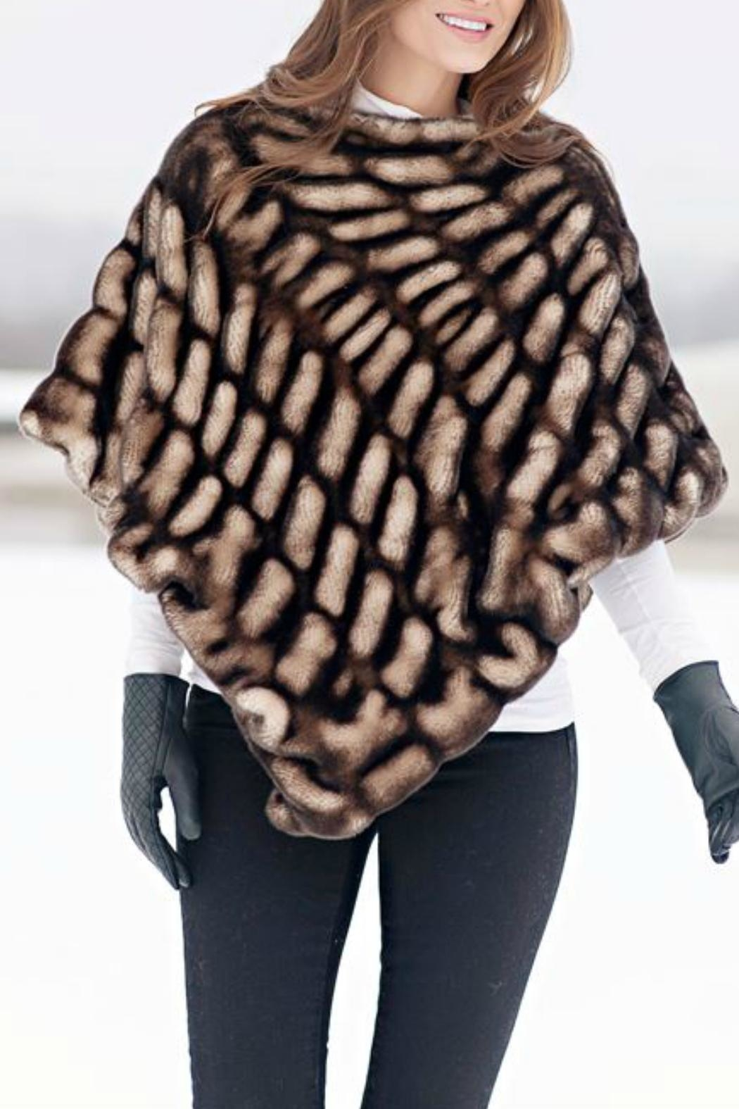Donna Salyers Shadow Mink Poncho - Side Cropped Image