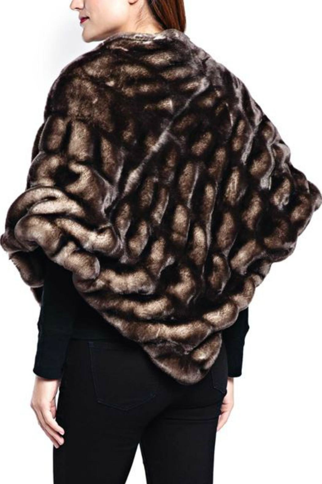 Donna Salyers Shadow Mink Poncho - Front Full Image