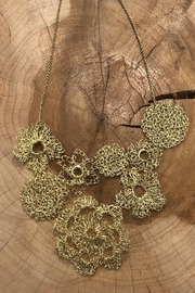 Donna Si Gold Hand-Crocheted Necklace - Product Mini Image
