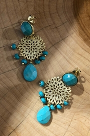 Donna Si Turquoise Gold Earrings - Product Mini Image