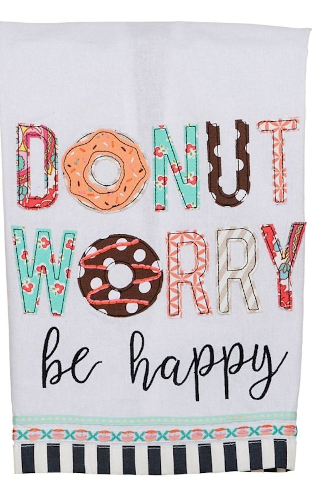 Glory Haus Donut Worry Towel - Front Cropped Image