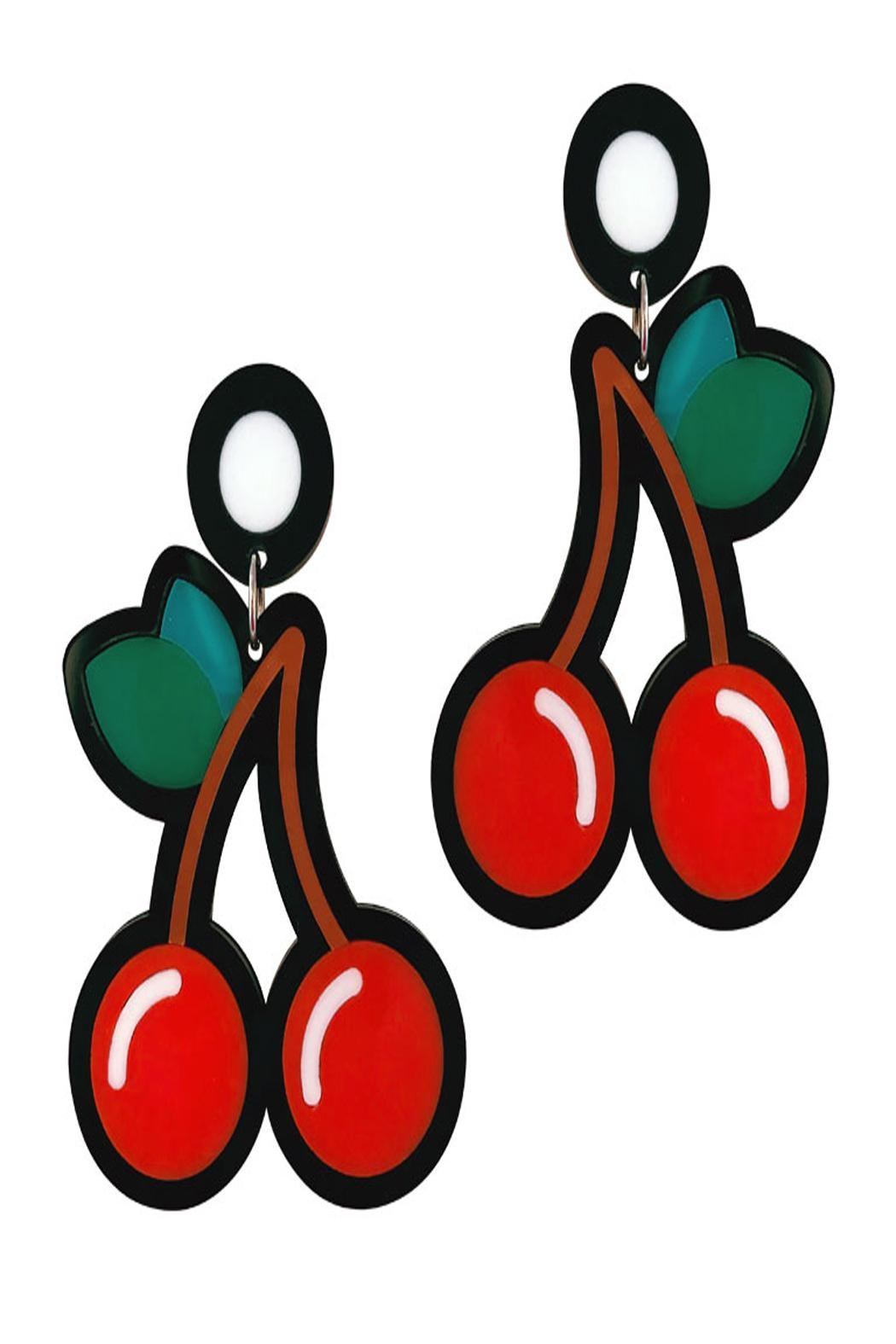 Doodad and Fandango Cherry Earrings - Front Cropped Image