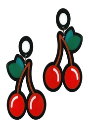 Doodad and Fandango Cherry Earrings - Front cropped