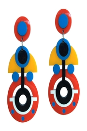Doodad and Fandango Pop Deco Earrings - Front cropped
