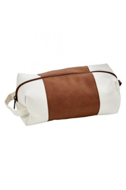 Phinas DOPP Travel Kit Canvas and Caramel Leatherette Bag - Product Mini Image