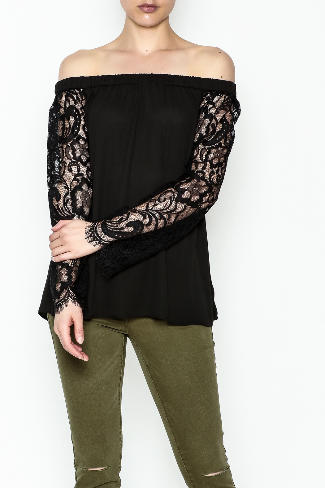 Dora Landa Lesley Off Shoulder Top - Front Cropped Image