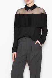 Allison Collection Pleated Ruffle Blouse - Product Mini Image