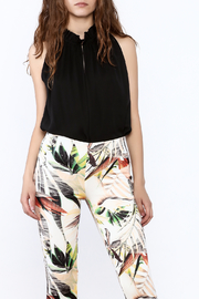 Dora Landa Black Sleeveless Flowy Top - Front cropped