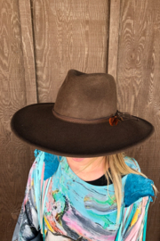 Scala Wool Felt Big Brim Rancher Hat - Product Mini Image