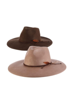Scala Wool Felt Big Brim Rancher Hat - Product List Image